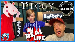 Roblox PIGGY In Real Life Chapter 2: STATION | Thumbs Up Family
