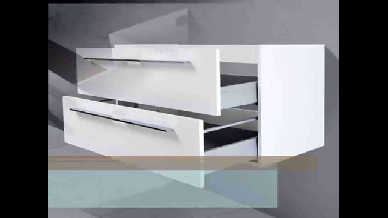 novelli unterschrank f r duravit vero 100 cm youtube. Black Bedroom Furniture Sets. Home Design Ideas