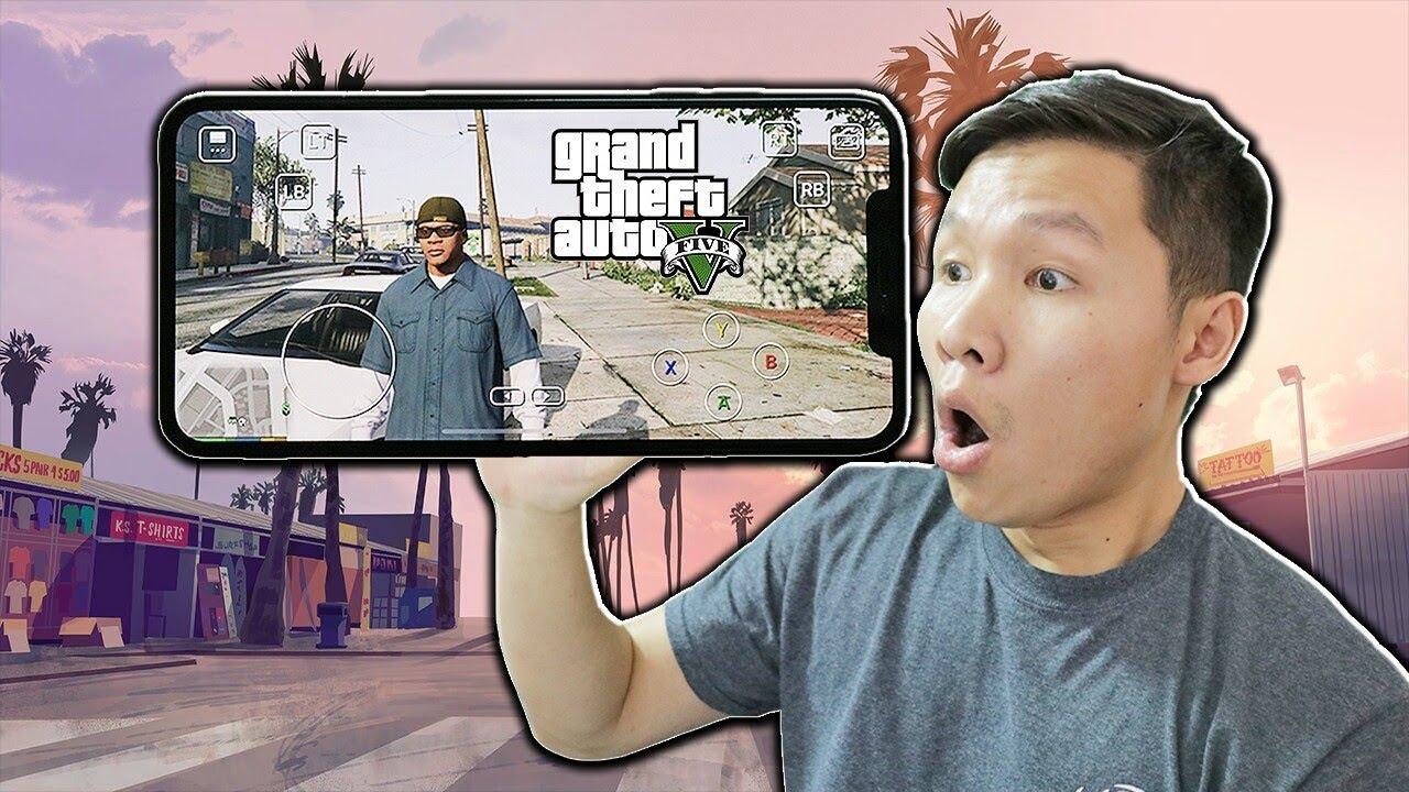 SLENDERMAN BẤT NGỜ KHI CHƠI ĐƯỢC GTA 5 BẰNG ĐIỆN THOẠI IPHONE XS MAX
