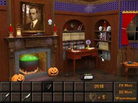 Haunted halloween escape walkthrough youtube for Minimalistic house escape 5 walkthrough
