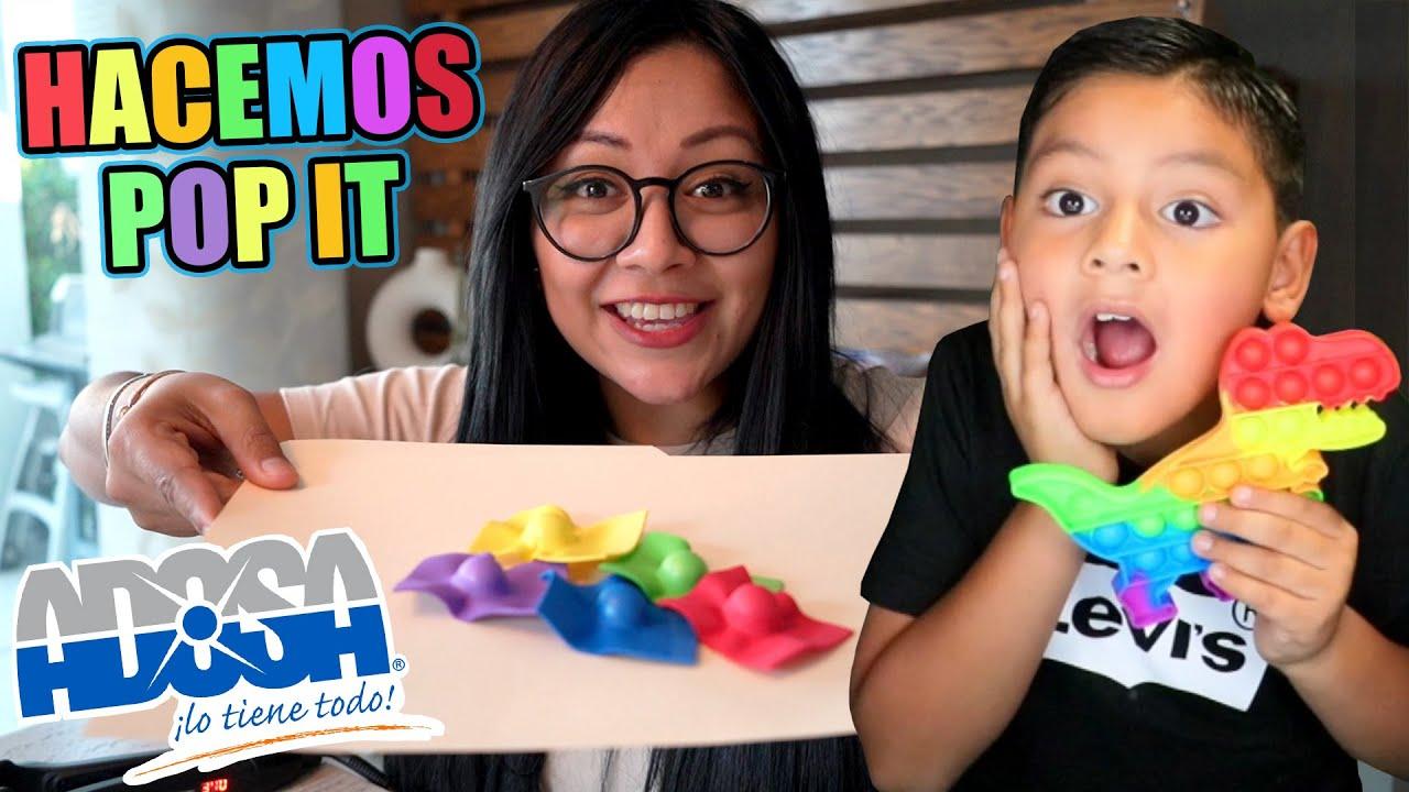 Download HACEMOS POP IT CASEROS SUPER FACIL | DE COMPRAS EN ADOSA | Juegos Karim Juega