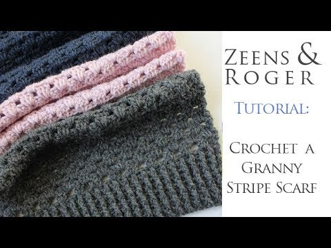 How To Crochet A Granny Stripe Scarf Youtube