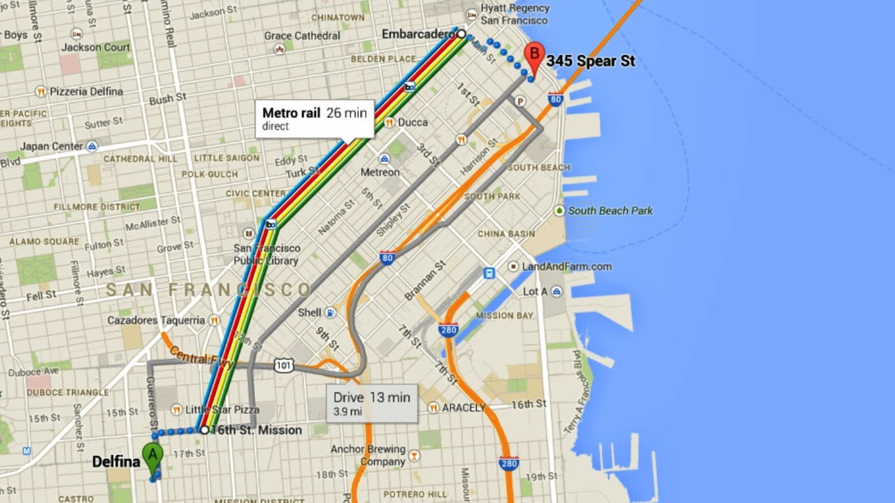 How To Use The New Google Maps Directions YouTube - Google maps to and from