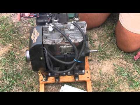 HOMEMADE TWIN CYLINDER BRIGGS & STRATTON ENGINE