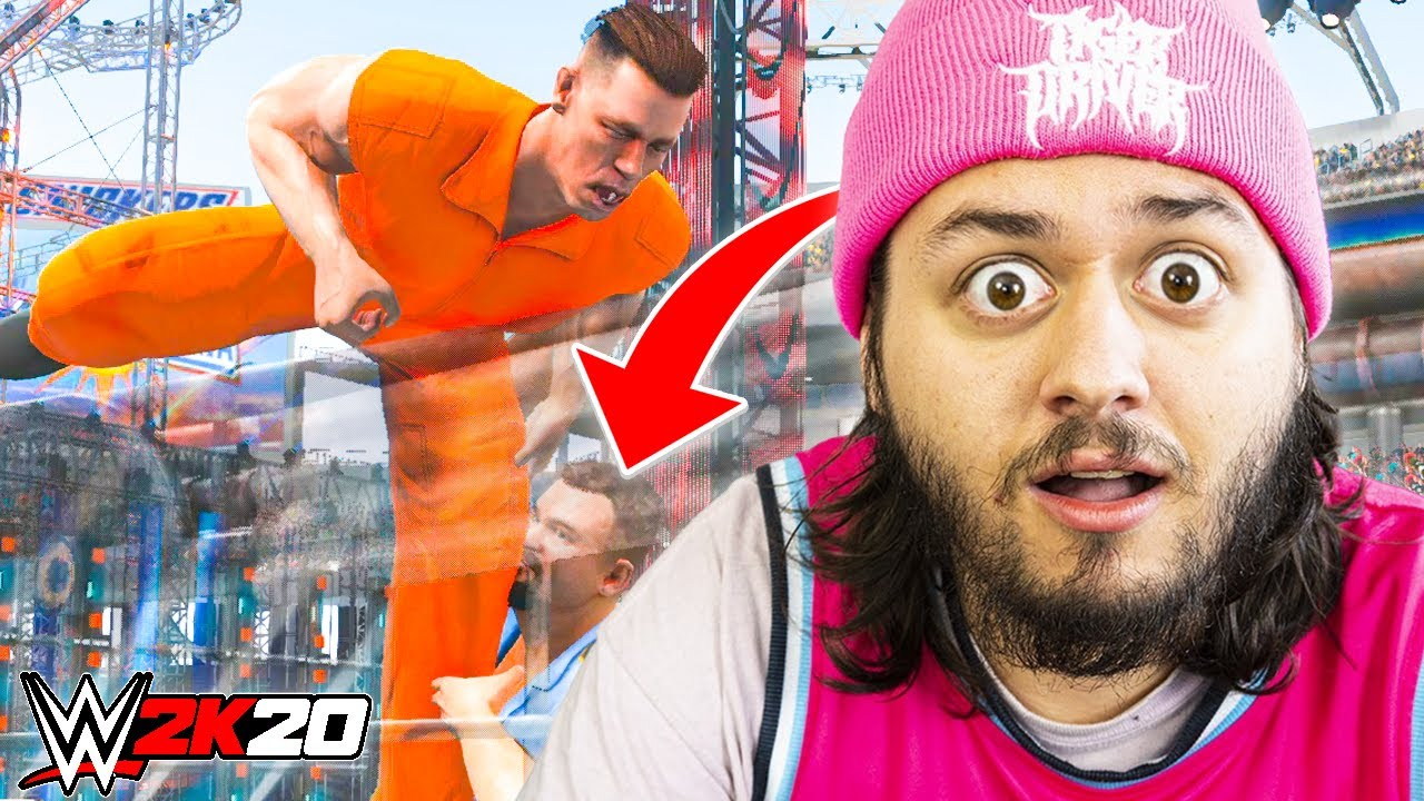 WWE 2K20 But You Have To BREAK OUT OF JAIL To Win!