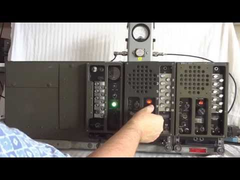 SCR-508 WWII tank radio description and actual on-air operat