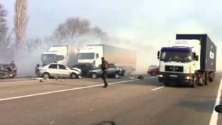Авария на трассе Одесса - Киев (55 км.)