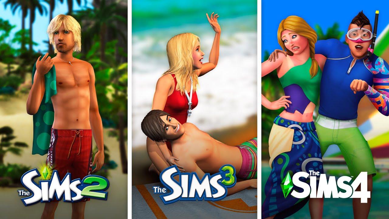 Отдых на островах в The Sims | Сравнение 3 частей