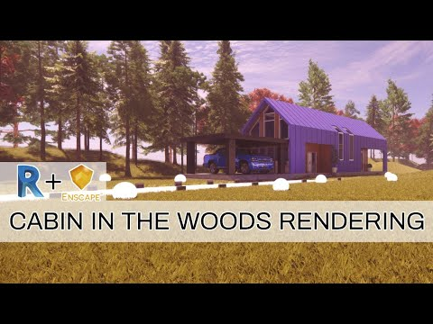 Cabin In The Woods Rendering | Revit+Enscape Exterior Rendering Workflow