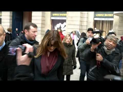 Carla BRUNI @ Paris Fashion Week 26 janvier 2015 Défilé Schiaparelli