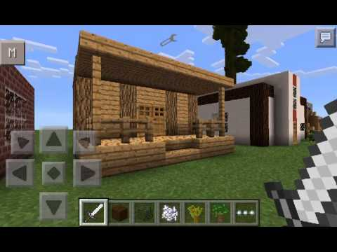 Casas para minecraft pocket edition peque as youtube for Casas modernas minecraft faciles