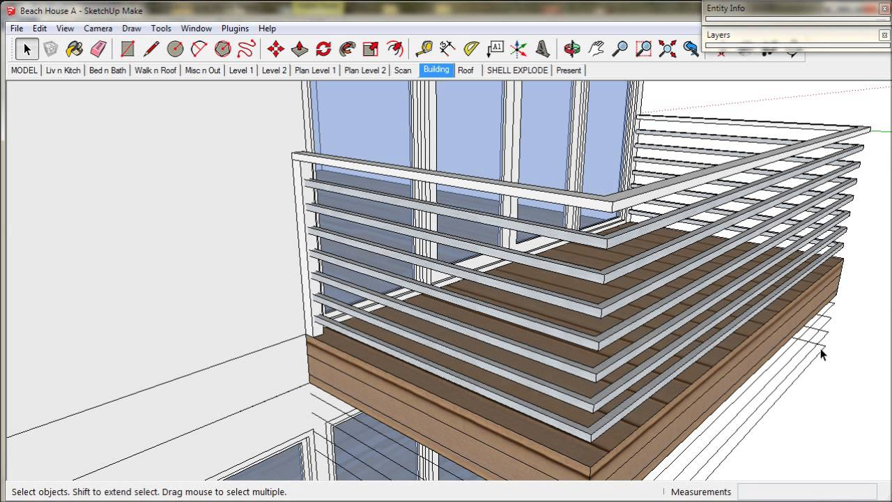 10 Handrails And Balustrades A Trebld And Sketchup