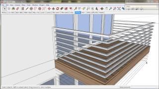10.  Handrails and Balustrades.  A TreblD and SketchUp Tutorial