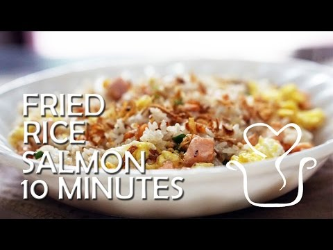 Fried Rice Salmon 10 Minutes