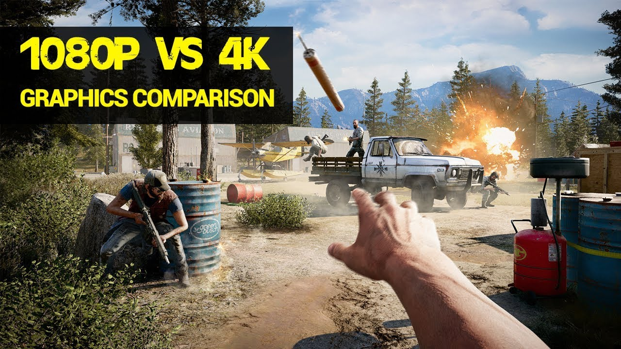 1080p Vs 4k Far Cry 5 Graphics Comparison Youtube
