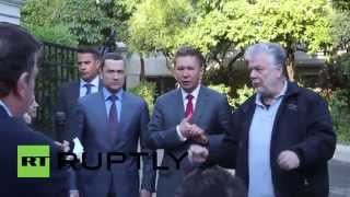 Greece: Gazprom CEO Miller meets Greek Energy Minister Lafazanis in Athens