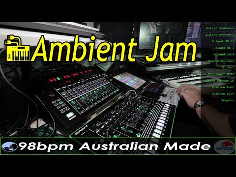 Live Ambient Jam - Roland System-8 Teenage Engineering OP-1 Yamaha Reface CS Ableton Push