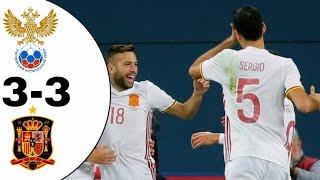 Resumen España-Rusia 3-3 | All Goals (Highlights) Friendy Match 14/11/17 Amistoso