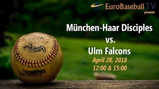 BASEBALL BUNDESLIGA LIVE: Haar Disciples vs. Ulm Falcons