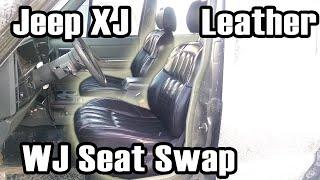 89 cherokee custom wj leather seat swap
