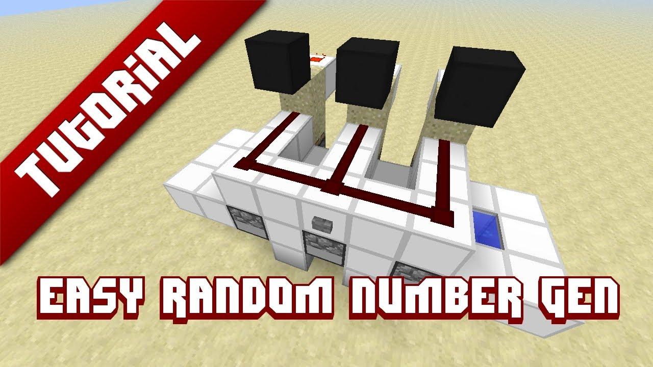 Minecraft Tutorial: Easy Random Number Generator