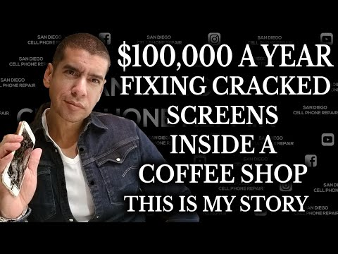 My Story How I built a $100,000 Business Alone Repairing Cracked iPhone Samsung Screen