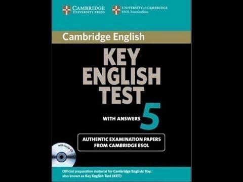 Listening A2 , KET 5, Test 3 , Part 2
