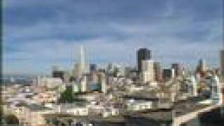 Time Lapse Moon Rise Over San Francisco