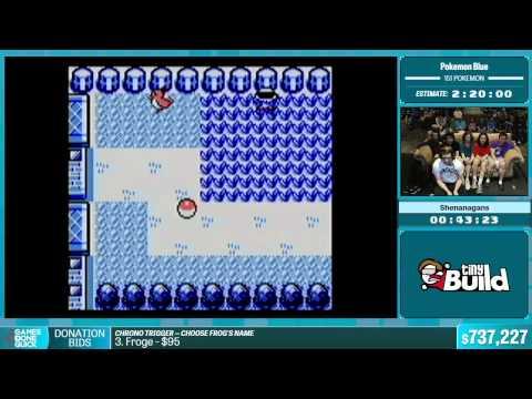 Pokemon Blue (151 Pokemon) by Shenanagans in 1:58:56