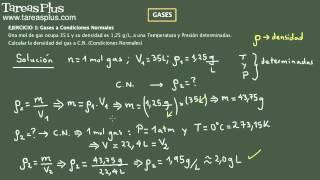 Gases y Ecuacion de Estado parte 3 (condiciones normales)