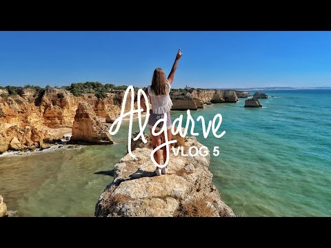 Algarve, Portugal | Cliffs & waves at Praia da Marinha | World Wanderista