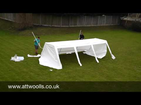 Party Tent (Standard) Pitching & Packing Video (Real Time)