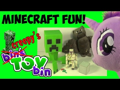 Minecraft Iron Golem Figure & Plush Bat Review with Creepy Twilight Sparkle! by Bin