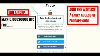 EARN 0.00030000 BTC FREE I EARLY ACCESS BY FOLDAPP I 100% REAL PROJECT I BITFXT AIRDRP UPDATE I