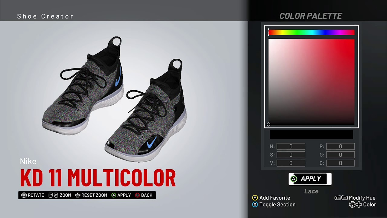 8759e1df5a5 NBA 2K19 Shoe Creator - Nike KD 11