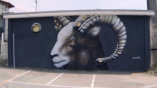 Best Street Art STREETALPS Festival Piemonte #5 ANAMARIETTA