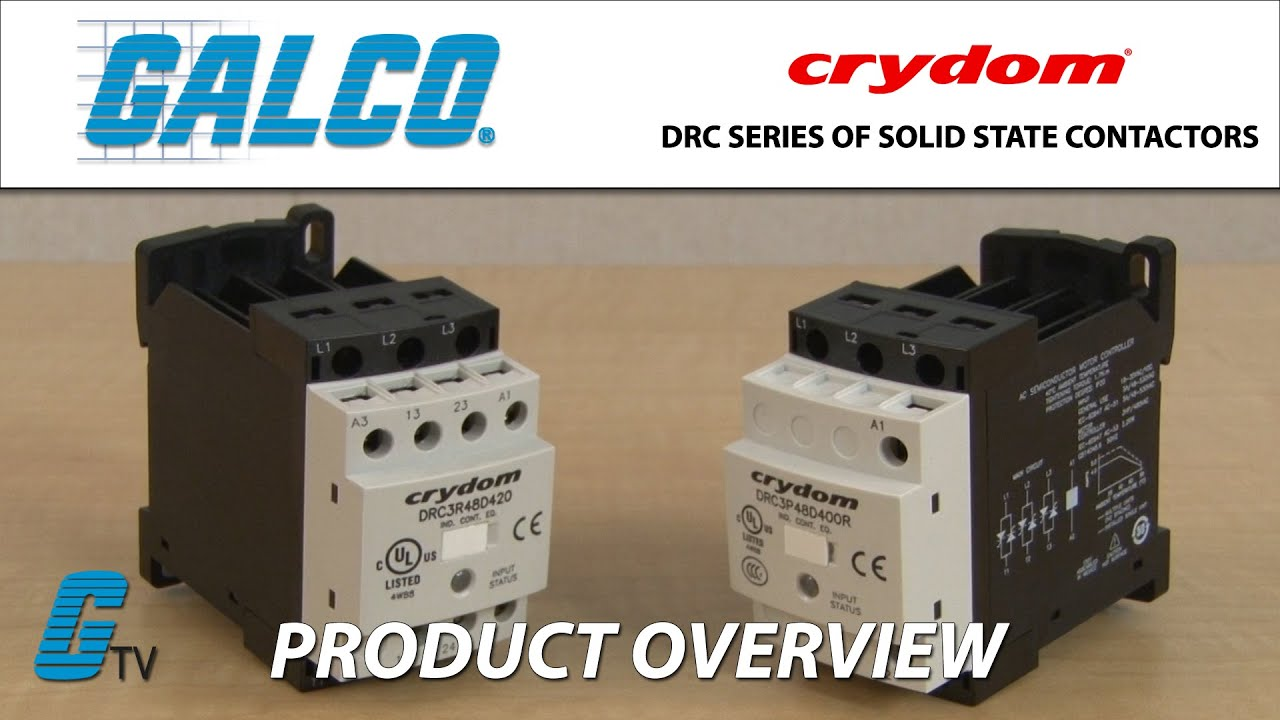 Crydom Drc Series Of Solid State Contactors Youtube Relay