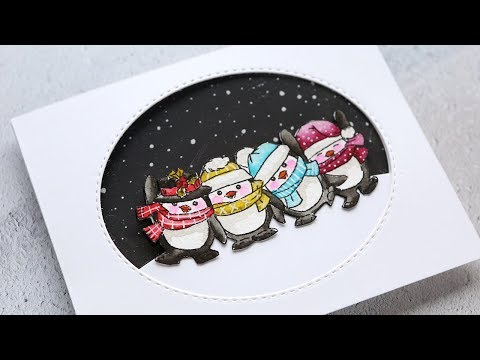 holiday-card-series-2019-–-day-9-–-penguin-window-card