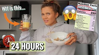 EATING RECOMMENDED SERVING SIZES FOR 24 HOURS!