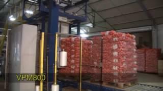 Паллетирование мешков с картофелем на оборудовании Verbruggen модель VPM 800