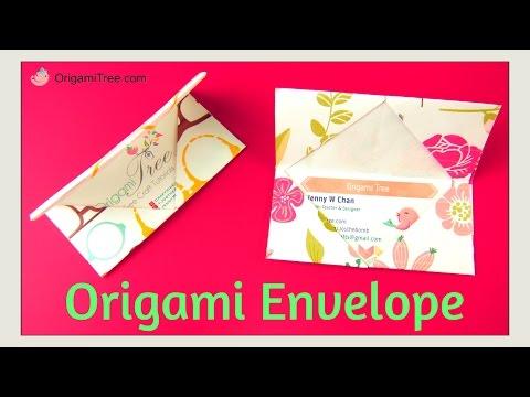 Origami Envelope & Business Card Holder - Easy Origami DIY Paper Craft