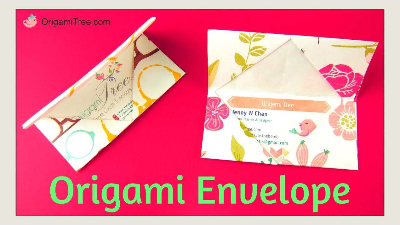 Back to school crafts origami envelope business card holder youtube premium reheart