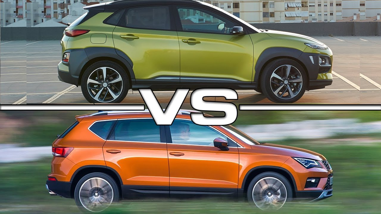 Tucson 2017 Vs Tucson 2018 >> 2018 Hyundai Kona vs 2017 Seat Ateca - YouTube