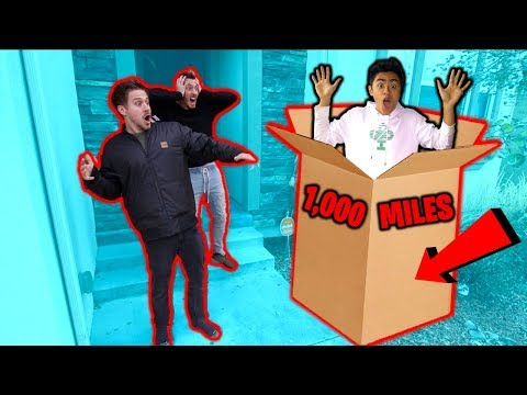 Flying 1,000 Miles to surprise MoreJStu in Cardboard BOX!