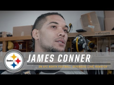 Conner on Rematch vs. Browns, Offensive Line | Pittsburgh Steelers