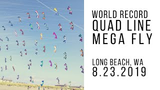 Quad Line Mega Fly - World Record - 101 Kites
