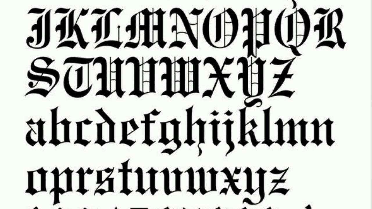 Letter T Tattoo Fonts