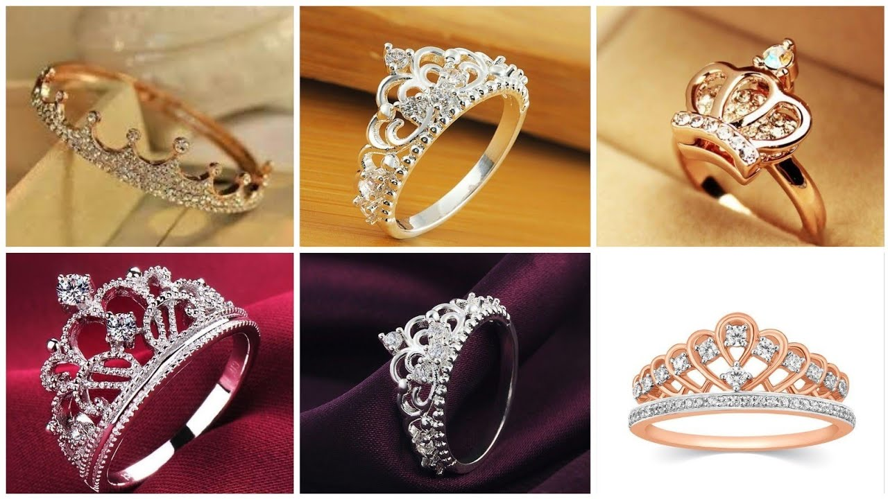 Top 60+ Crown Rings Designs Collection || Beautiful Finger Rings Designs || Rose Gold Rings