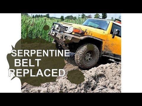 how to replace serpentine belt toyota