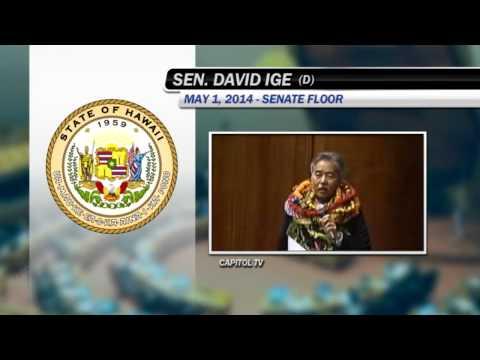 Senator David Ige Sine Die address